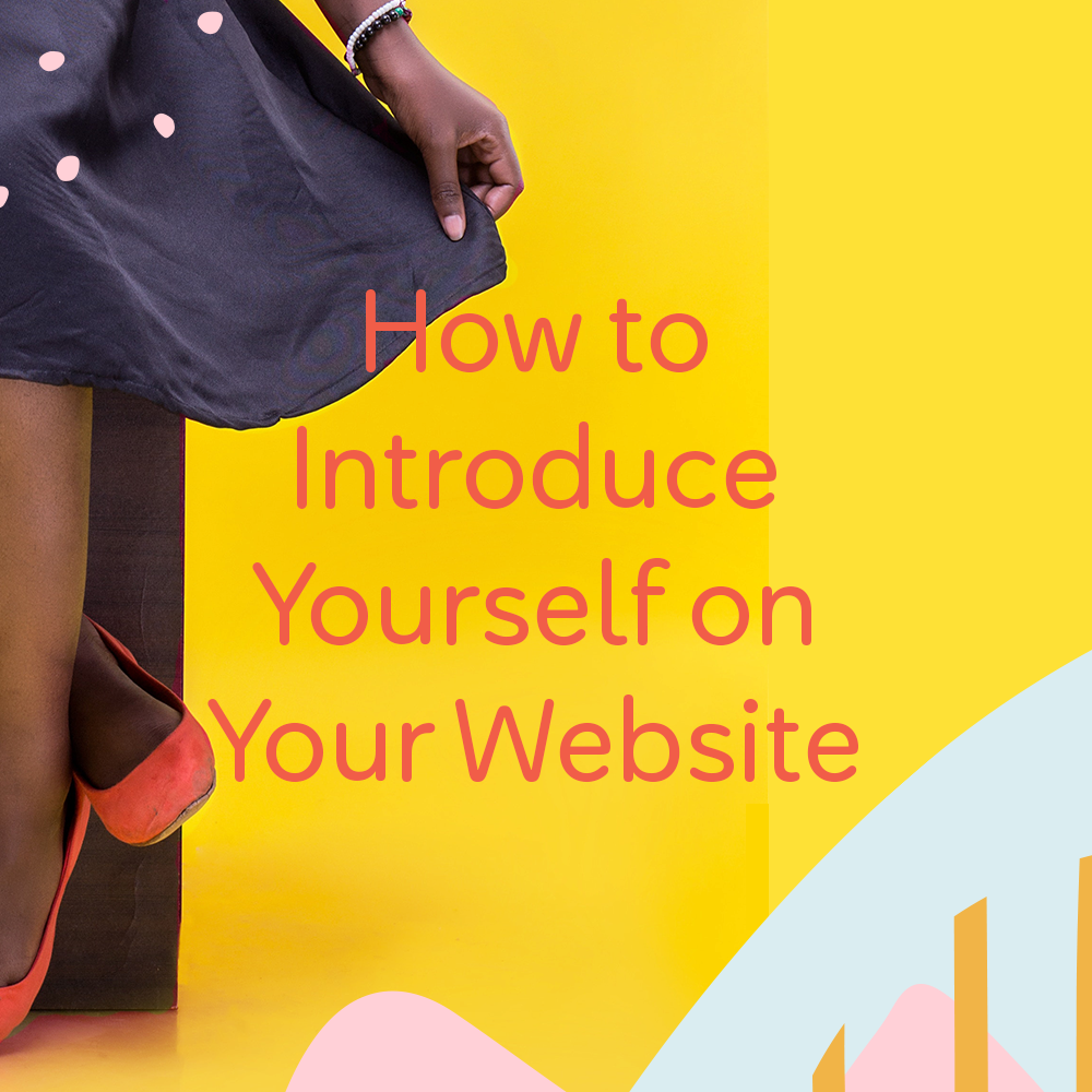 how to introduce yourself on your website by launchparty.live