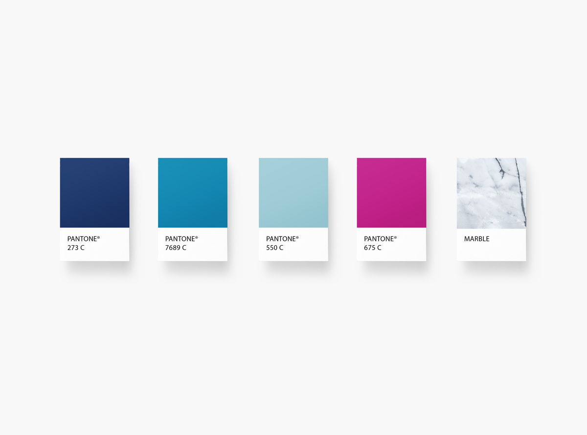 Maryse Karuna brand and website by Shelley Easter - color palette