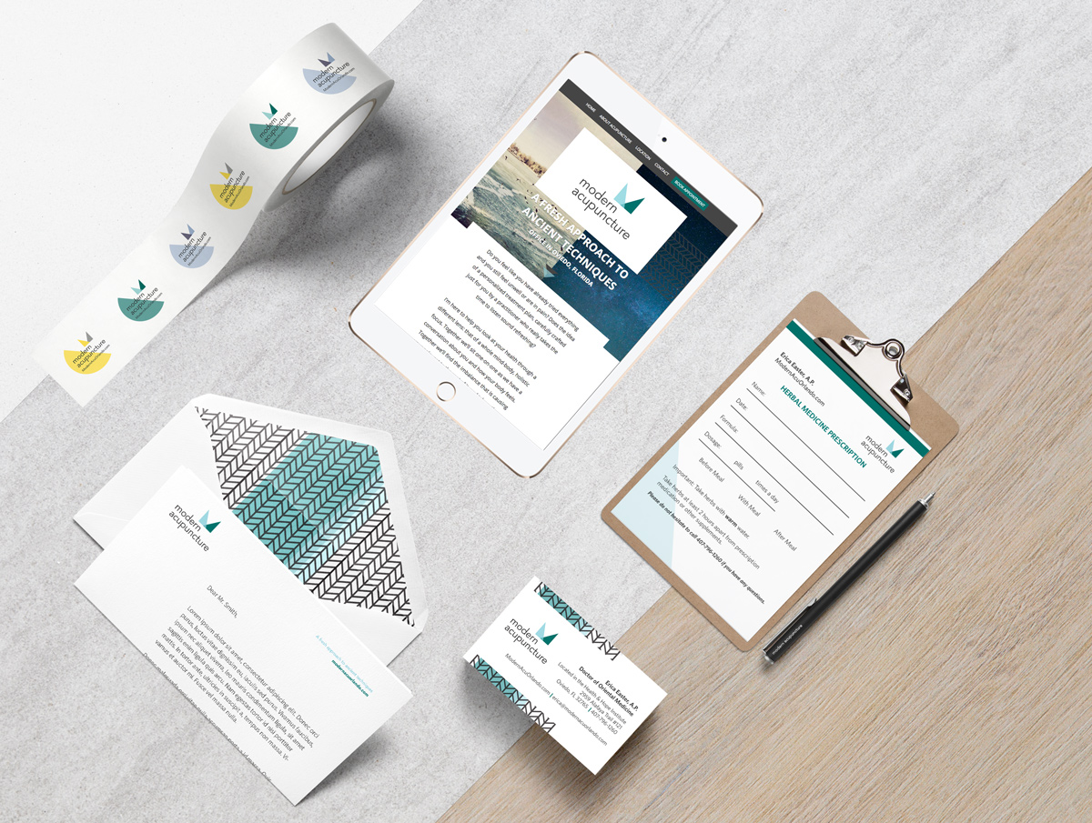 modern acupuncture branding and web design by Shelley Easter