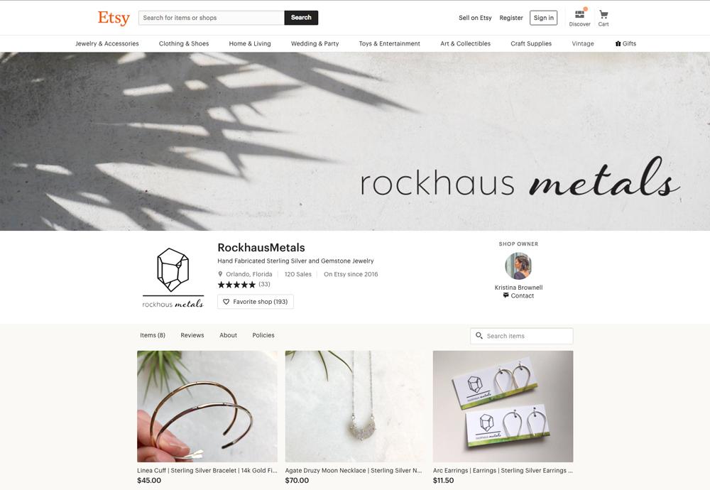 Rockhaus Metals Etsy shop