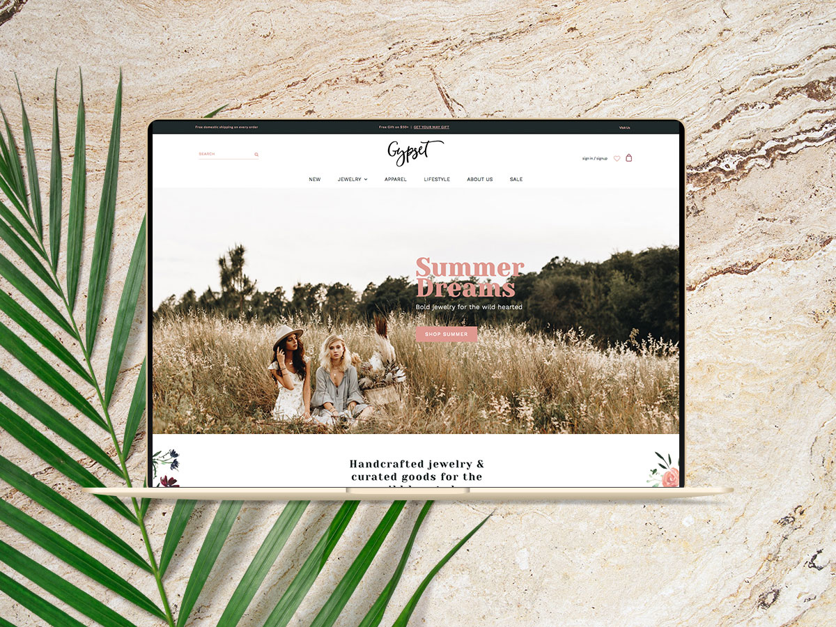 gypset collective shopify homepage
