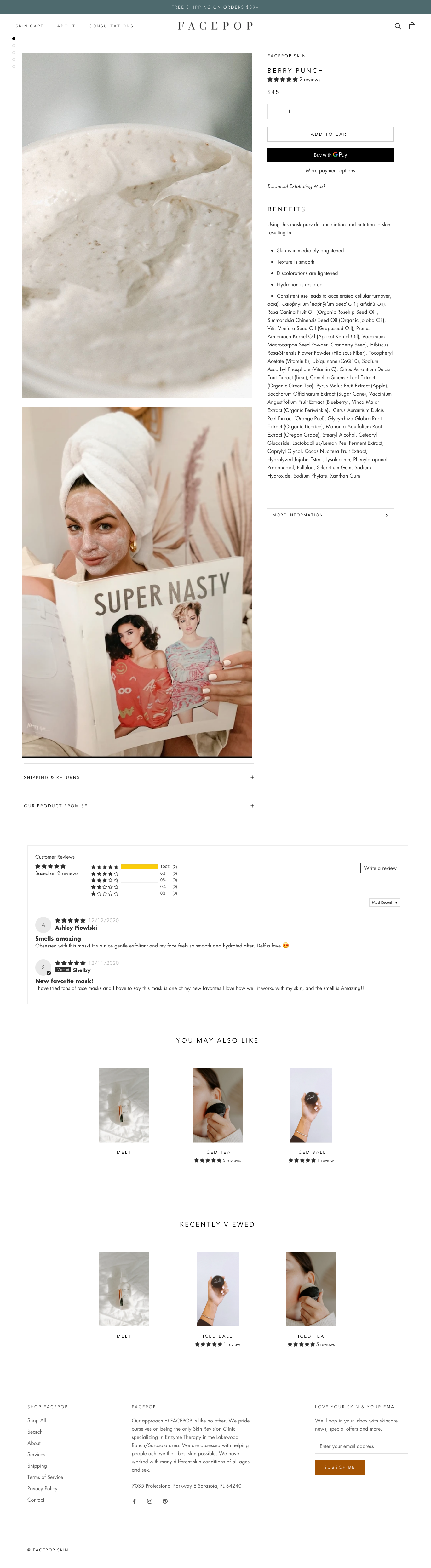 facepop product page design shopify