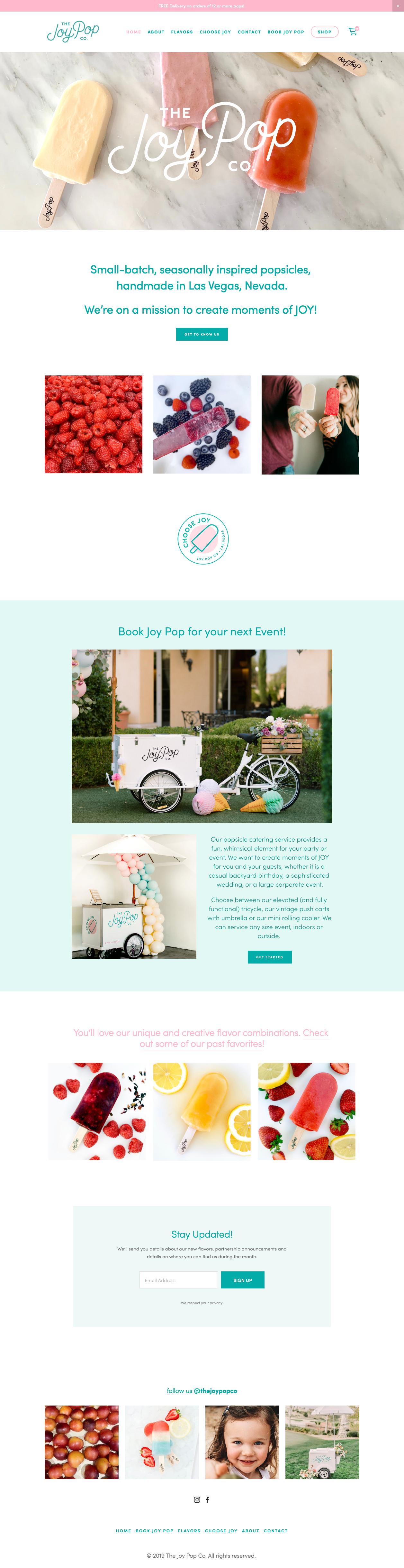 old joypop website on squarespace